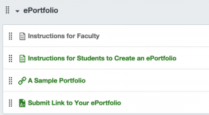 ePORTFOLIO In Canvas Commons