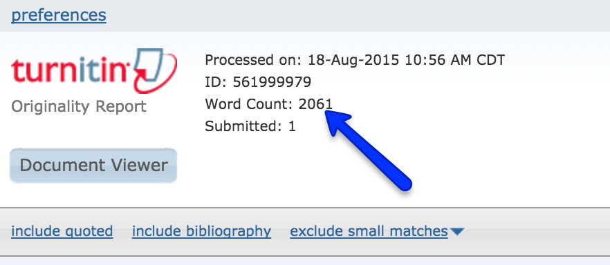 can turnitin count words in pdf