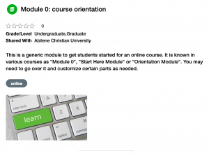 Canvas orientation for students