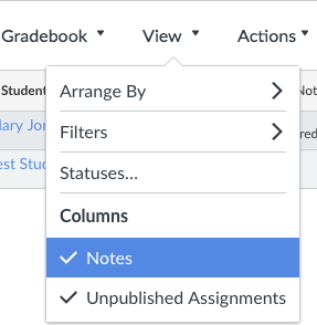 Add notes column