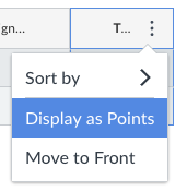 change display from percentage to points in Canvas