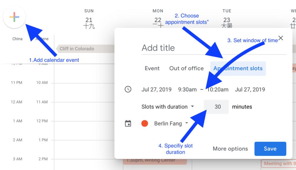 Google Scheduler