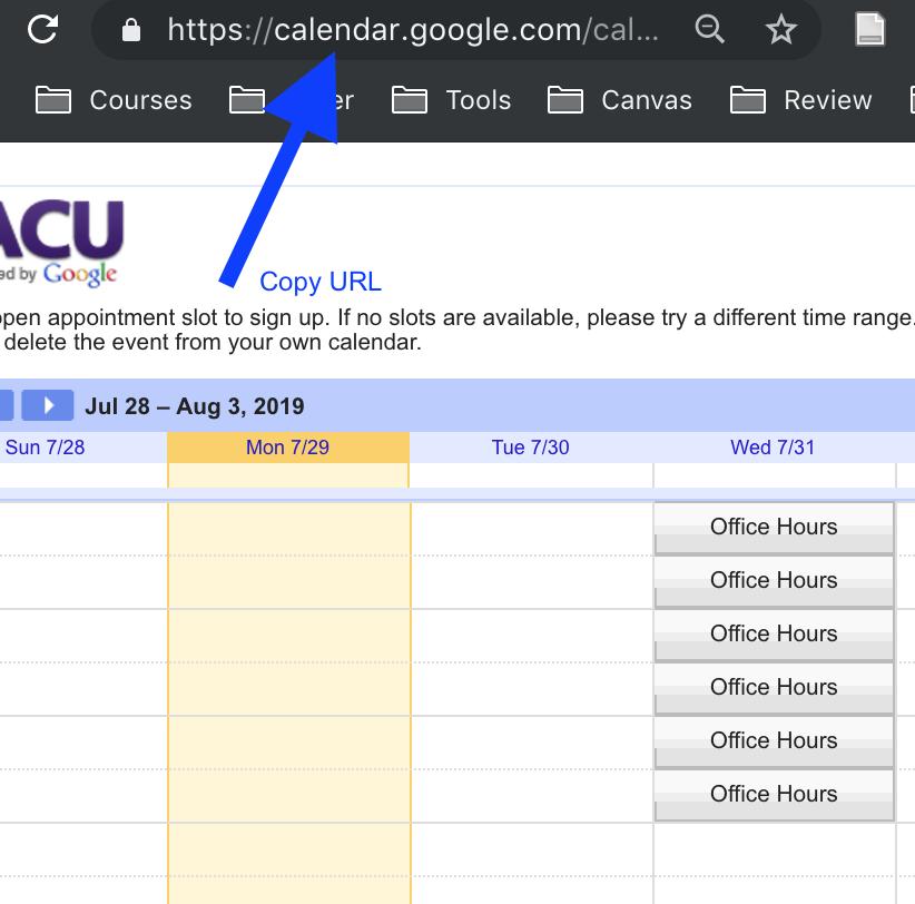 Screenshot shows how to copy URL