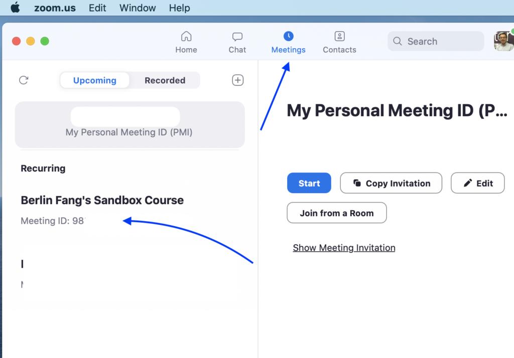 Find meetings