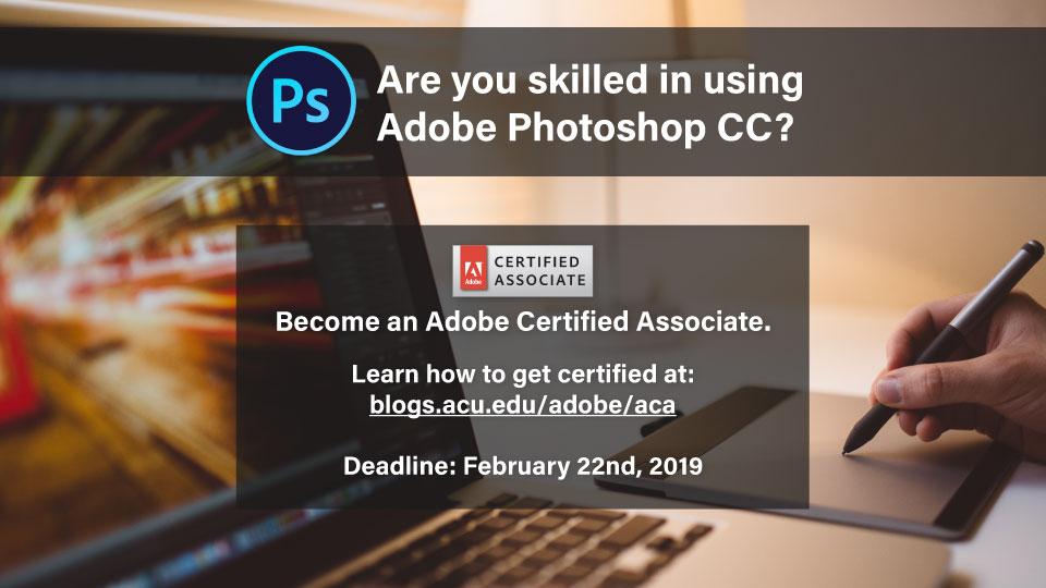 Get Certified: Adobe Certified Associate