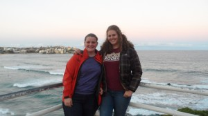 Heather Isbell and Anna Watson at Bondi Beach.