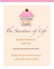 INTD Chapel Tues. Feb. 22