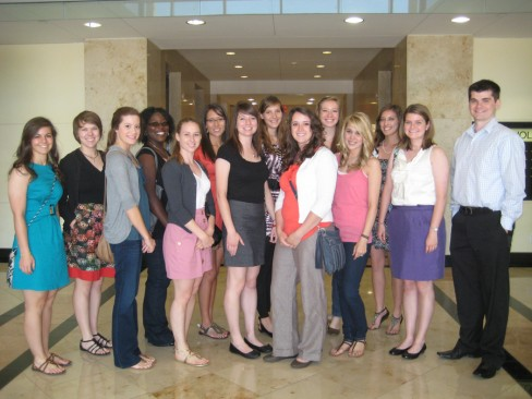 A Group Four Of Interior Design Majors Visited Two Firms In San Antonio On April 4th Along