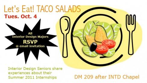 FREE Interior DesignTaco Salad Lunch and Internship Panel this