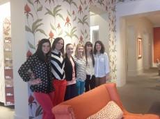 Junior Interior Design students at Kravet Showroom