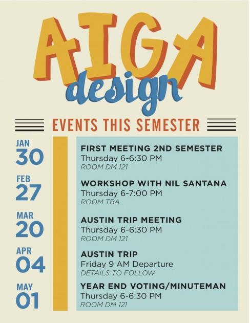 AIGA Event Dates