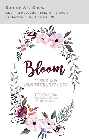 BLOOM senior show sidebar