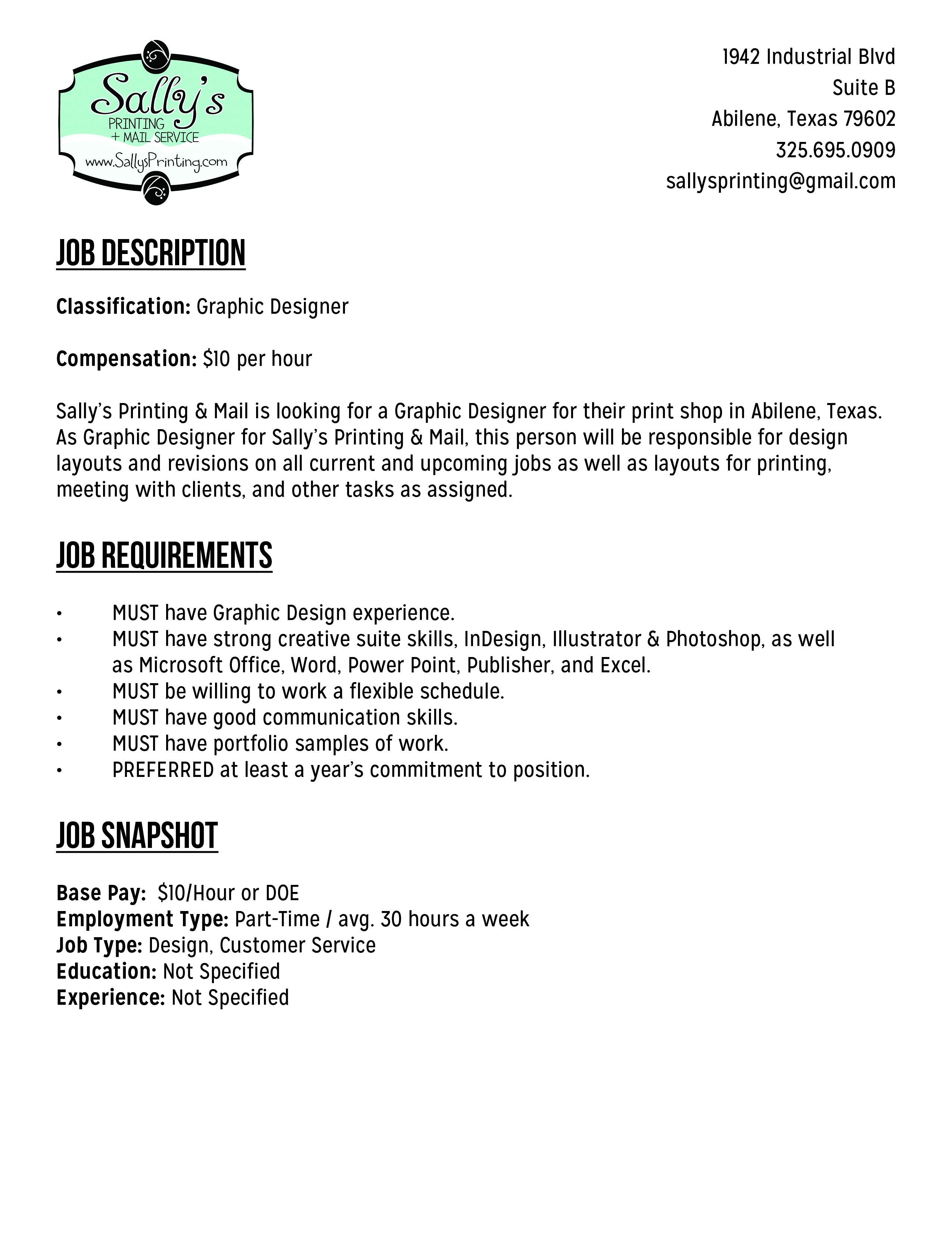 Abilene Graphic Design Job | Art & Design