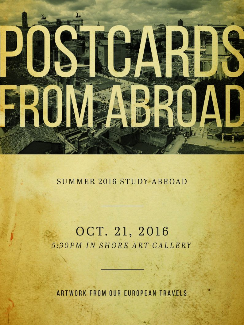 Study Abroad Poster 2016