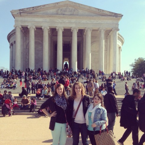 Kayla, Carlee, and Sarah in D.C.