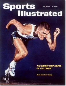 Earl Young - US Sprinter June 19, 1961 X 7554 credit:  Art Shay - assign