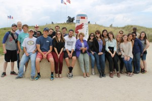 Group at Utah Beach