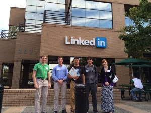 Students were toured around LinkedIn by ACU alum, Asa Kusuma.