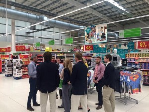 students touring asda