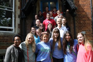 Dr. Burton and Dr. Pope teaching COBA students in Oxford.