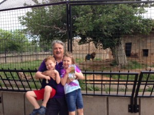 Phil with two of his five grandchildren
