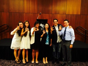 Samantha hosted COBA students at the Hispanic Unidos banquet held at ACU last month.