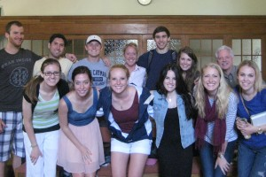 Dr. Lynn with students in Oxford