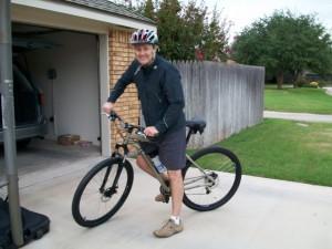 tim biking