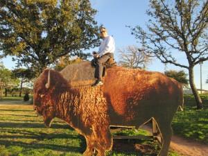 Kyle_riding_buffalo