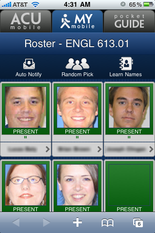 Roster Screen
