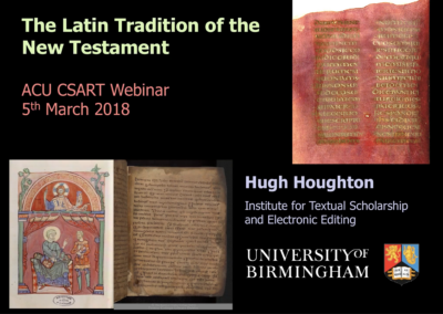 The Latin Tradition of the New Testament
