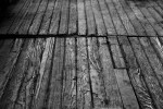 Floorboards in hall BW