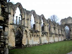 Ruins of an abbey in York.