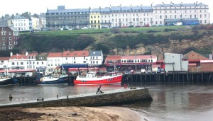 Harbor at Whitby, where Capt. James Cook apprenticed as a young man.