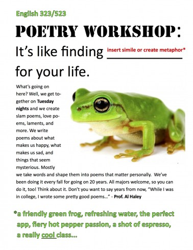 Flyer - Poetry Workshop 2015