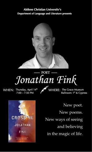 Flyer - Jonathan Fink Reading - myACU