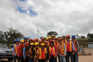 (Group at local wind farm)
