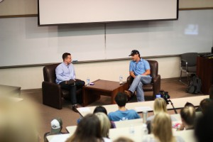 Aaron Watson shares his story of faith, family and the music industry at CEO Chapel