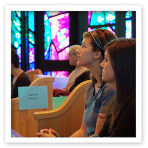 Honors College students in Chapel