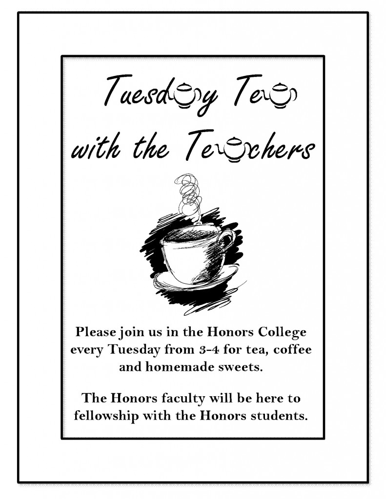 Tuesday Tea with the Teachers