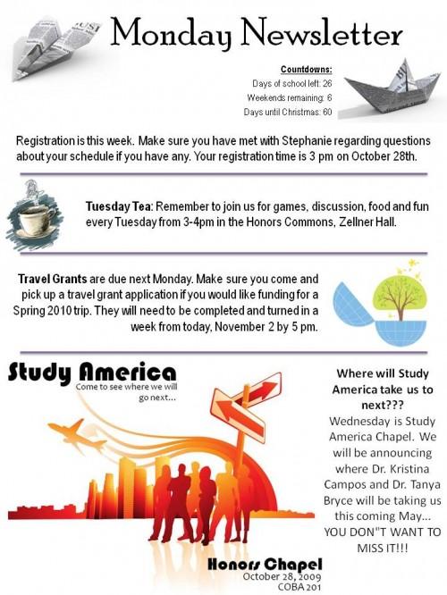 HC News: Monday, 10-26-09