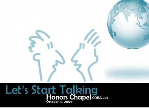 HC Chapel 10/14: Let's Start Talking