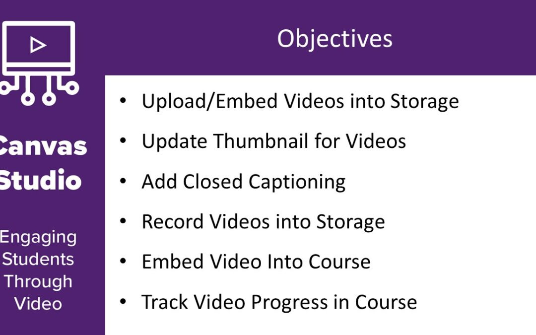 Canvas Studio – Engaging Students Through Video
