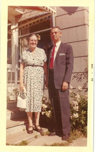 J. Ridley and Zelma in 1959.  Photograph, John Ridley Stroop Collection, Milliken Special Collections, Abilene Christian University, Abilene, TX.