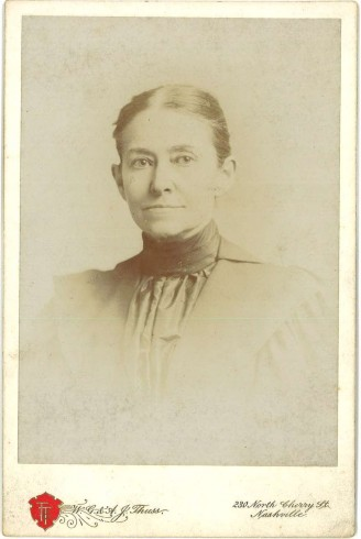 Margaret Lipscomb. Cabinet card photograph, John Ridley Stroop Collection, Milliken Special Collections, Abilene Christian University, Abilene, TX.