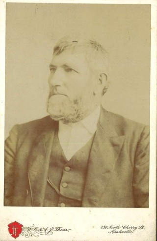 David Lipscomb. Cabinet card photograph, John Ridley Stroop Collection, Milliken Special Collections, Abilene Christian University, Abilene, TX.