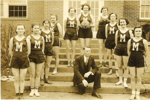 Stroop also coached the girls' basketball team while at Morrison High.  Photograph, John Ridley Stroop Collection, Milliken Special Collections, Abilene Christian University, Abilene, TX.