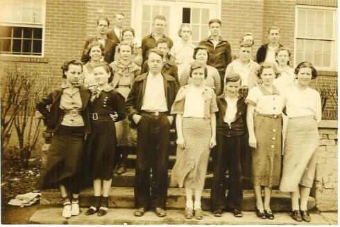 In 1936, Stroop worked as principal at Morrison High School. Here he is pictured with the freshman class.  Photograph, John Ridley Stroop Collection, Milliken Special Collections, Abilene Christian University, Abilene, TX.