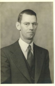 Portrait of Stroop during his professorship at David Lipscomb College.