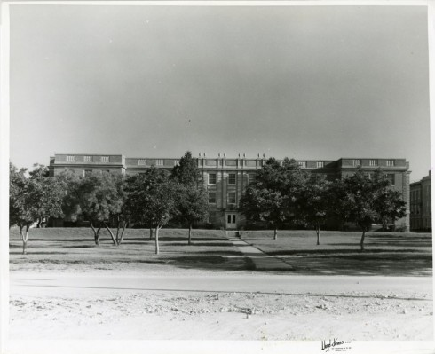 Zellner Hall on the current campus in the 1950s.  Photograph, Sewell Photograph Collection, Milliken Special Collections, Abilene Christian University, Abilene, TX.